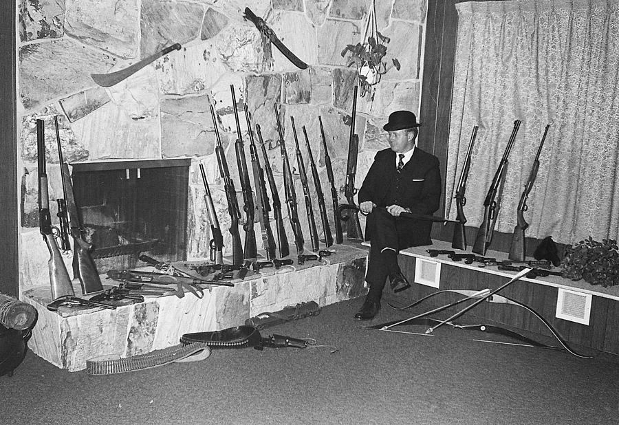 Viet Nam Vet John Dane With His Weapons Collection American Fork Utah 1975 Photograph by David Lee Guss