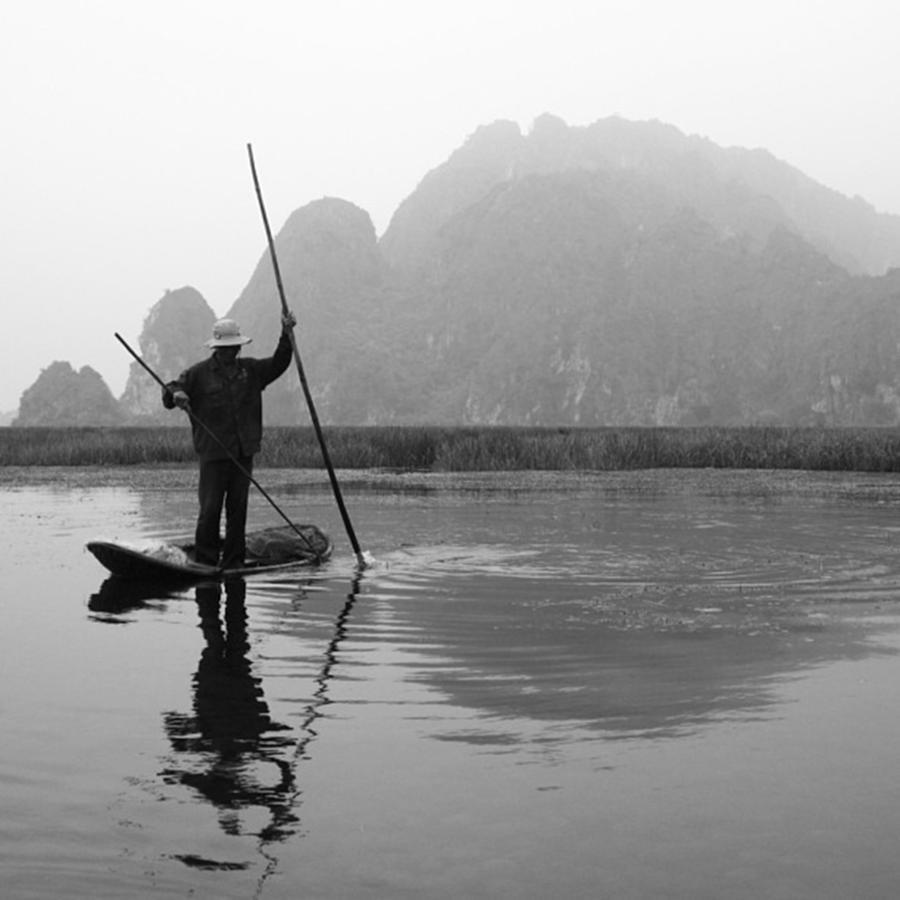 Blackandwhite Photograph - Vietnam Fishing #vietnam by Paul Dal Sasso