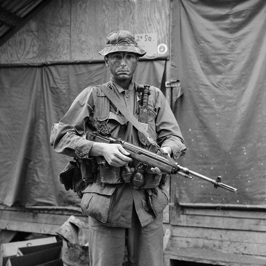 History Photograph - Vietnam War. Us Marine Sergeant by Everett