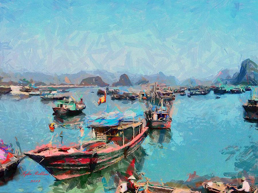 Vietnamese Fishermen by Tyler Robbins