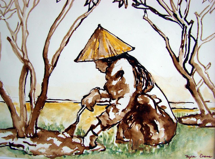vietnam painting vietnamese gardener ii by myra evans
