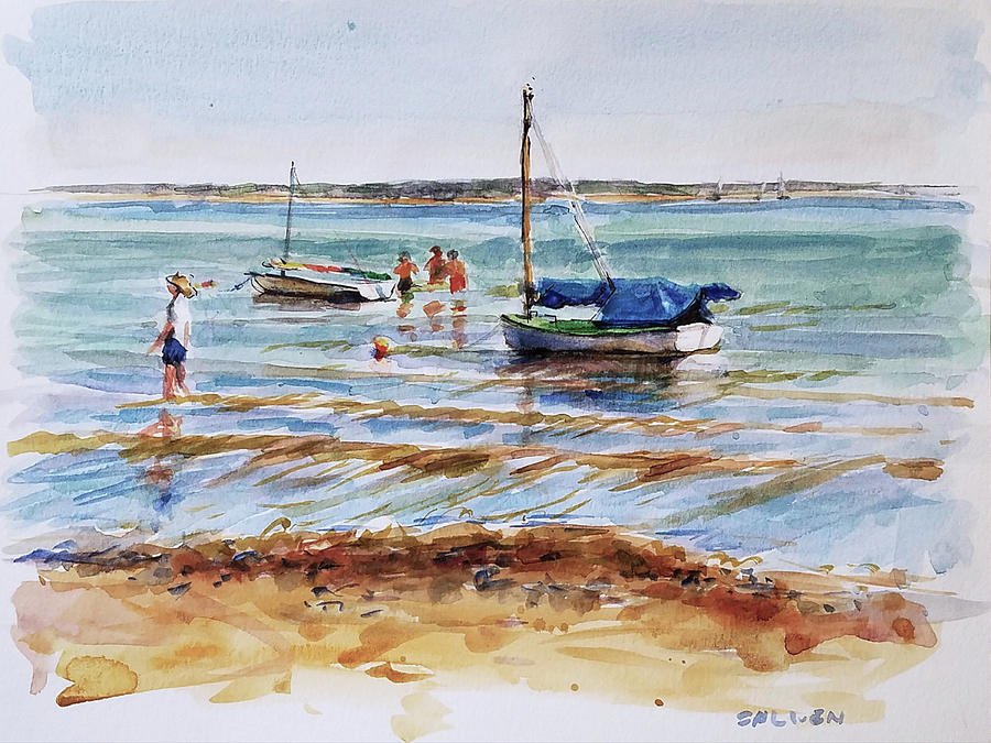 Landscape Painting - View Across Provincetown Harbor by Peter Salwen