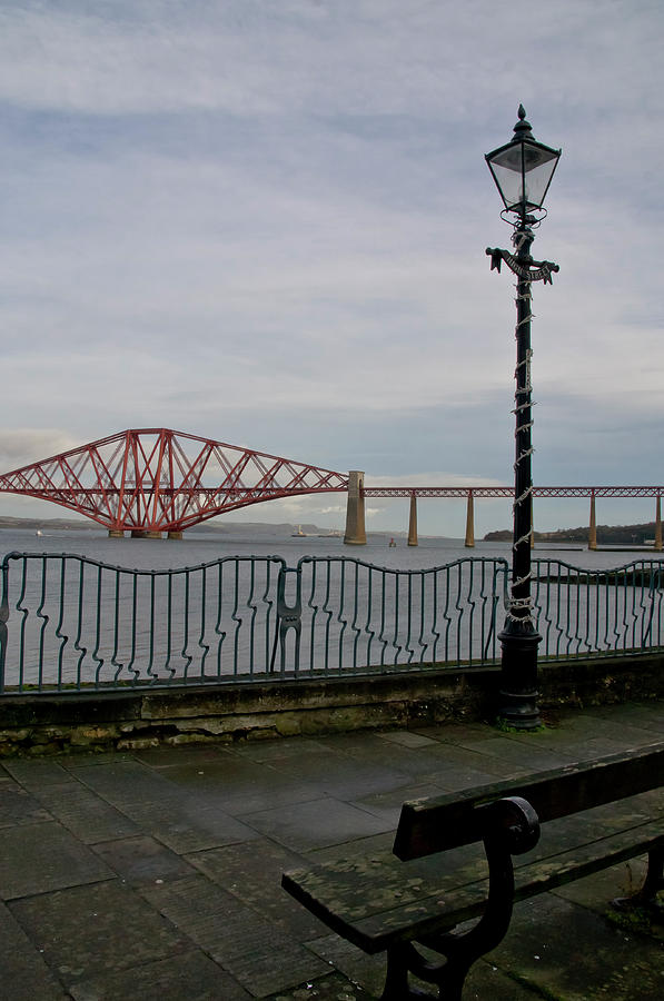 View at the Forth rail bridge from High Street in South Queensferry by Elena Perelman