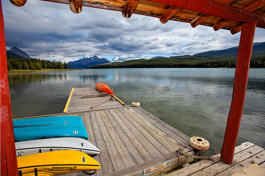 Boathouse Photograph - View From A Boathouse by George Oze