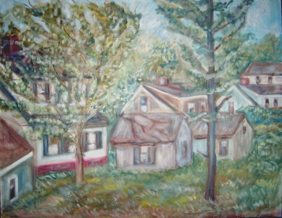 Landscape Painting - View From A Br Window 1 by Joseph Sandora Jr