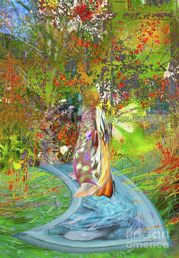 Person Digital Art - View From A Garden by Dorothy Pugh