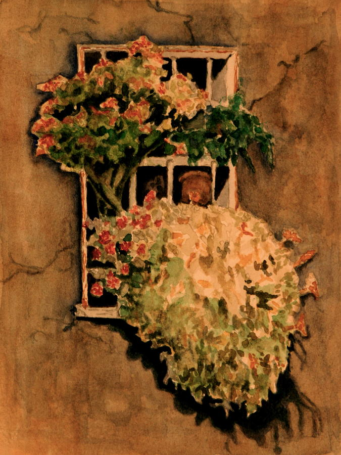 Flowers Painting - View From A Roman Window by Dan Earle
