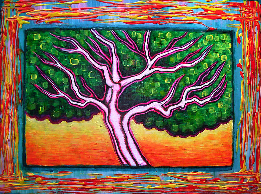 Tree Painting - View From A Window by Brenda Higginson