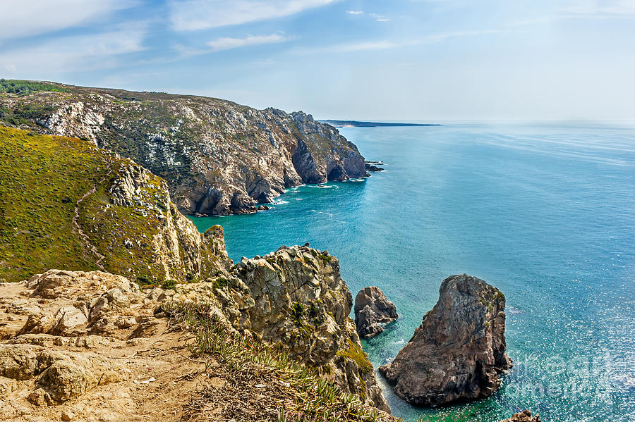 Atlantic Photograph - View From Cabo Da Roca - The Western Point Of Continental Europe by Dragomir Nikolov