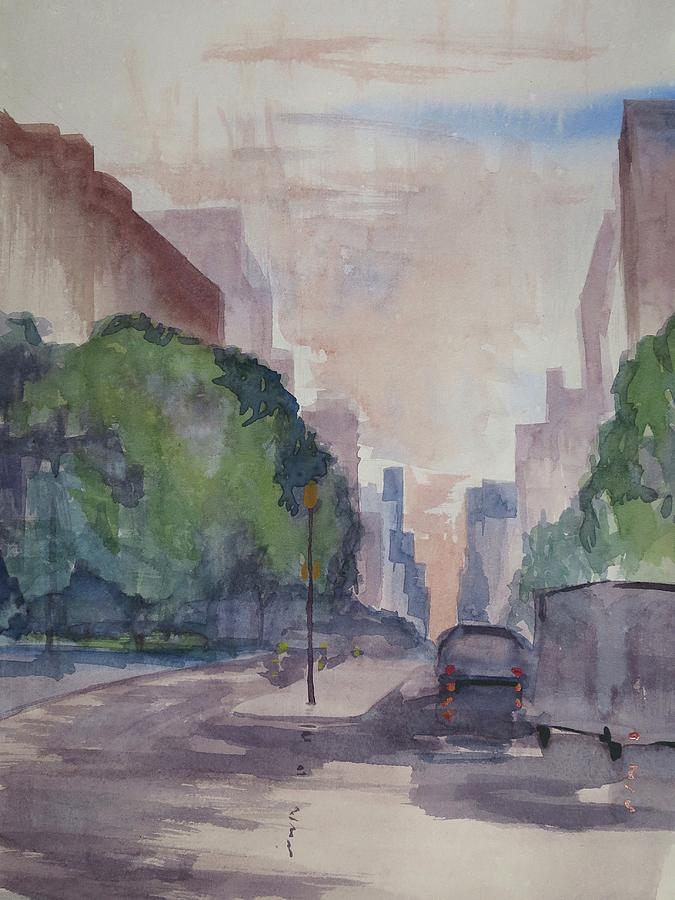 Plein Air Painting - View From Cooper Square by Bethany Lee