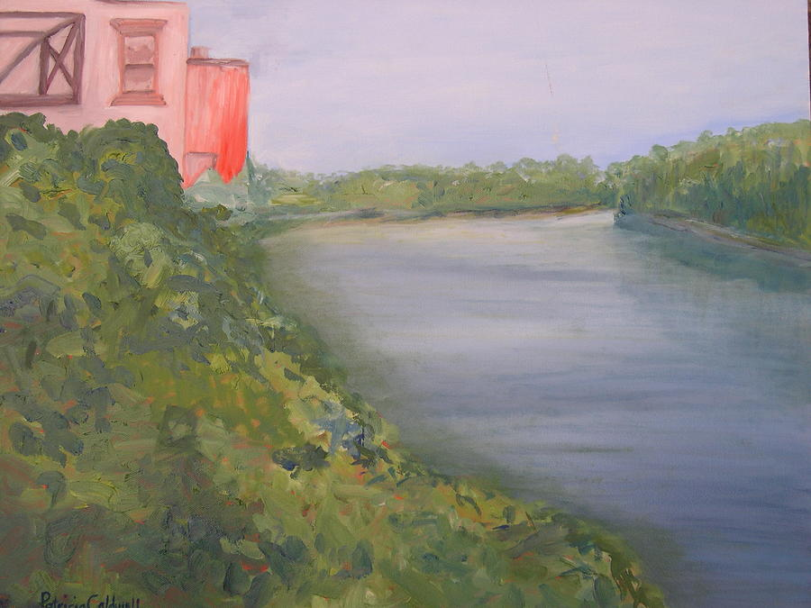 View From Edmund Pettus Bridge Painting by Patricia Caldwell