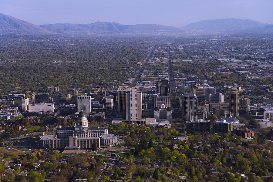 Salt Lake Photograph - View From Ensign by Chad Dutson