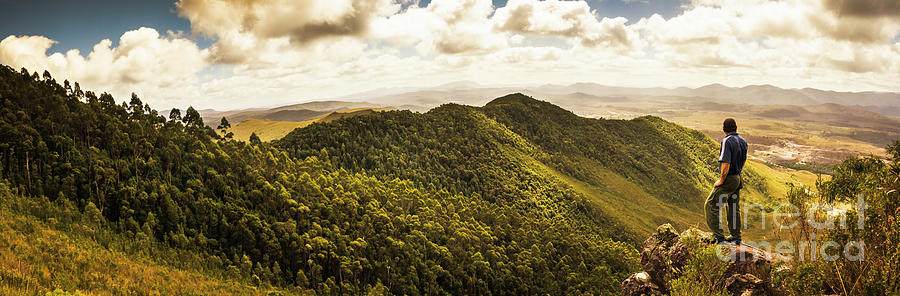 Tasmania Photograph - View From Halfway Up Mount Zeehan by Jorgo Photography - Wall Art Gallery