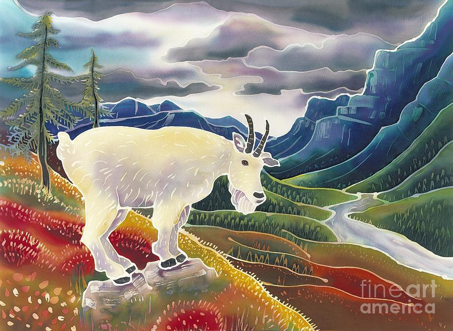 Mountain Goat Painting - View From High Places by Harriet Peck Taylor
