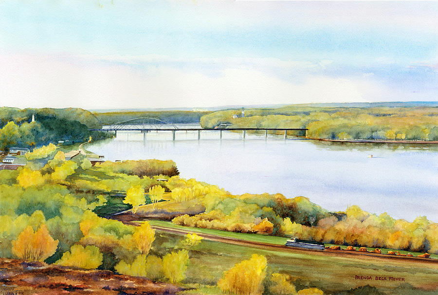 Mississippi River Painting - View From Lovers Leap by Brenda Beck Fisher