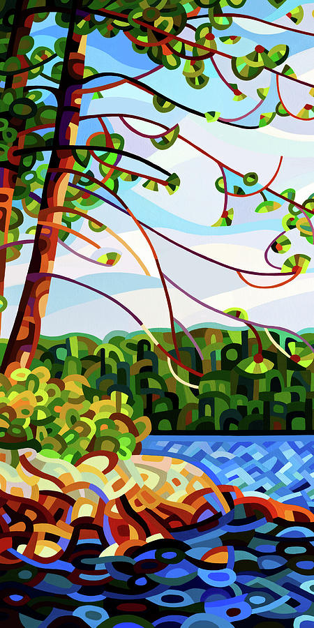View From Mazengah - Crop Painting by Mandy Budan