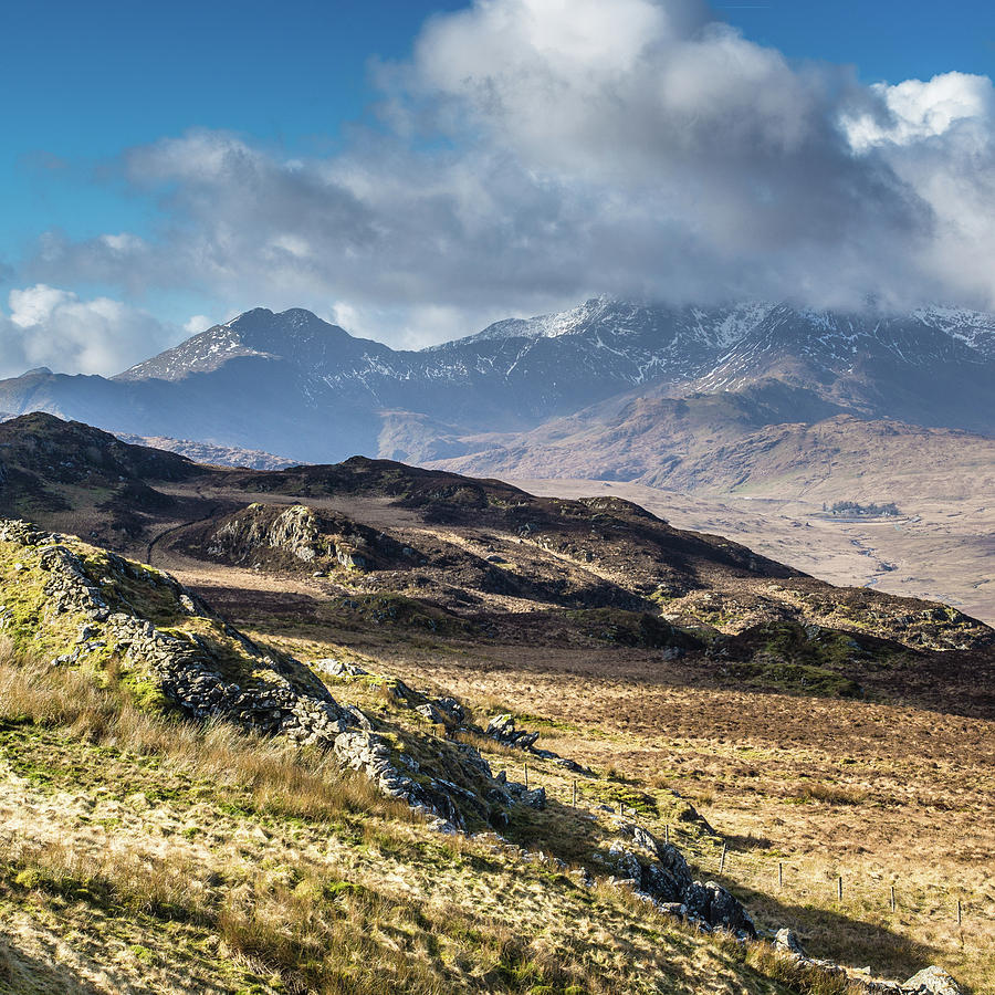 Mountain Photograph - View from Moel Siabod, Snowdonia, North Wales by Anthony Lawlor