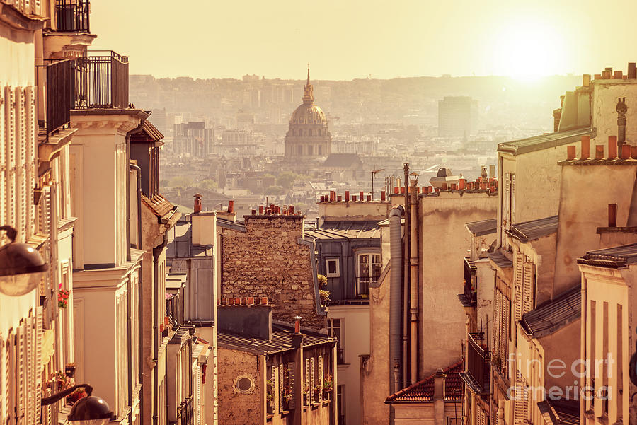 Paris Photograph - View From Montmartre by Delphimages Photo Creations