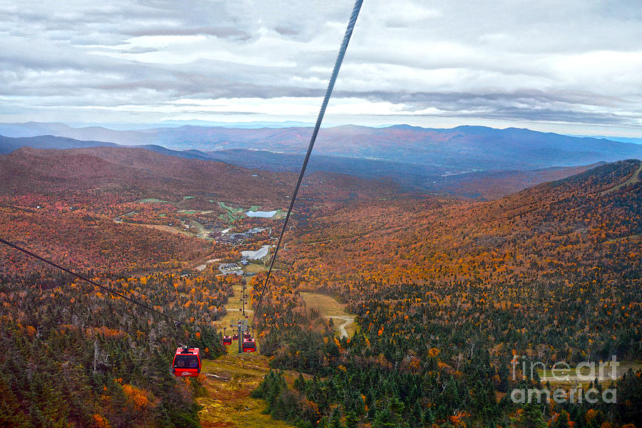 Stowe Photograph - View From Mount Mansfield In Autumn by Catherine Sherman
