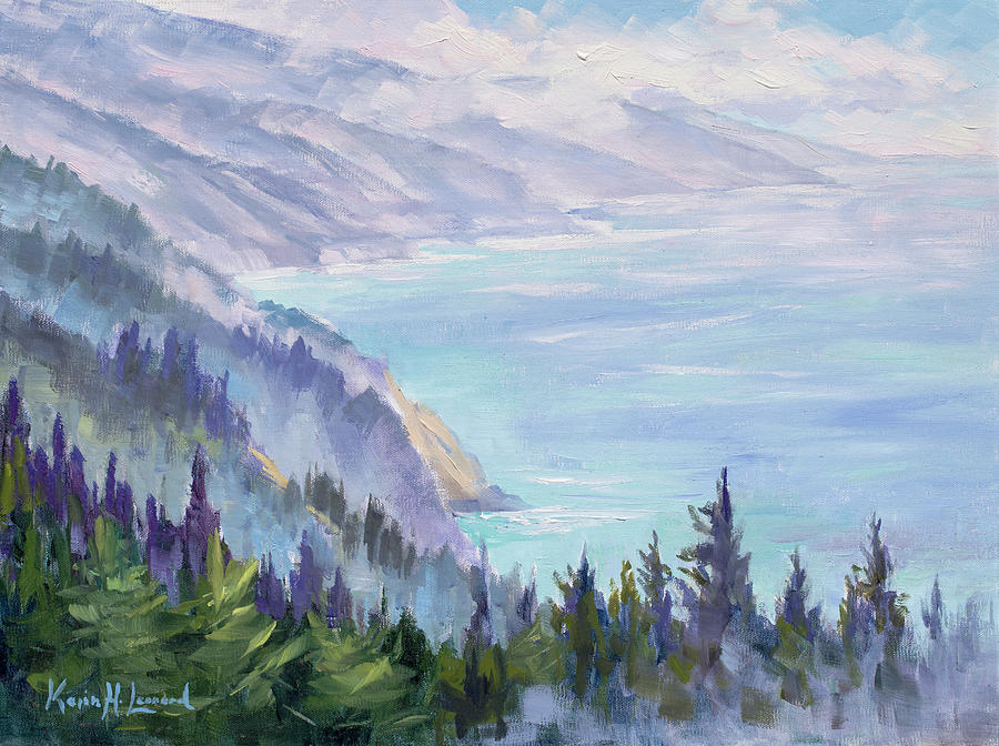 Nepenthe Painting - View From Nepenthe by Karin Leonard