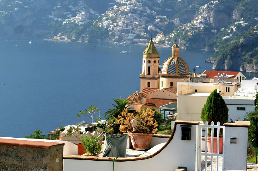 View from Praiano to Positano by VICKI HONE SMITH