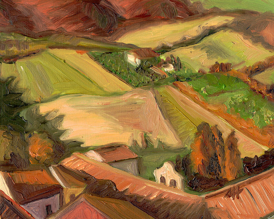 San Gimignano Painting - View from San Gimignano II by Jennie Traill Schaeffer