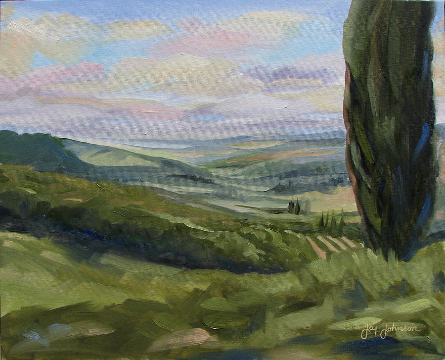 Landscape Painting - View From Sienna by Jay Johnson