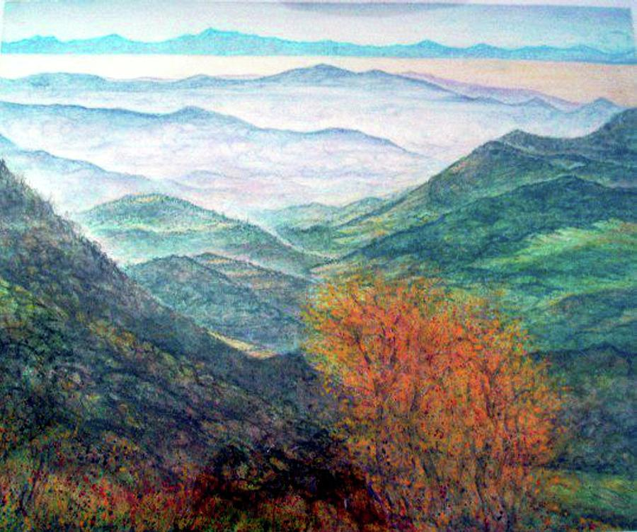 Landscape Painting - View From The Autumnal Belchen   by Arkis Krayl