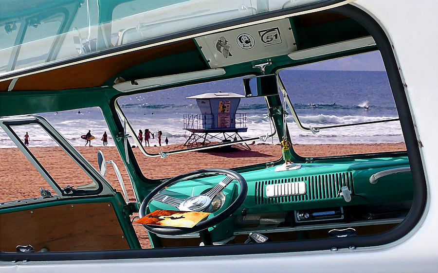 Vw Photograph - View From The Bus by Ron Regalado