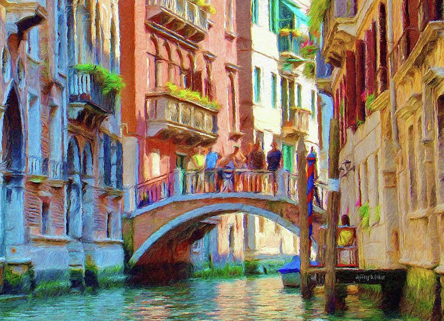 Architecture Painting - View From The Canal by Jeff Kolker
