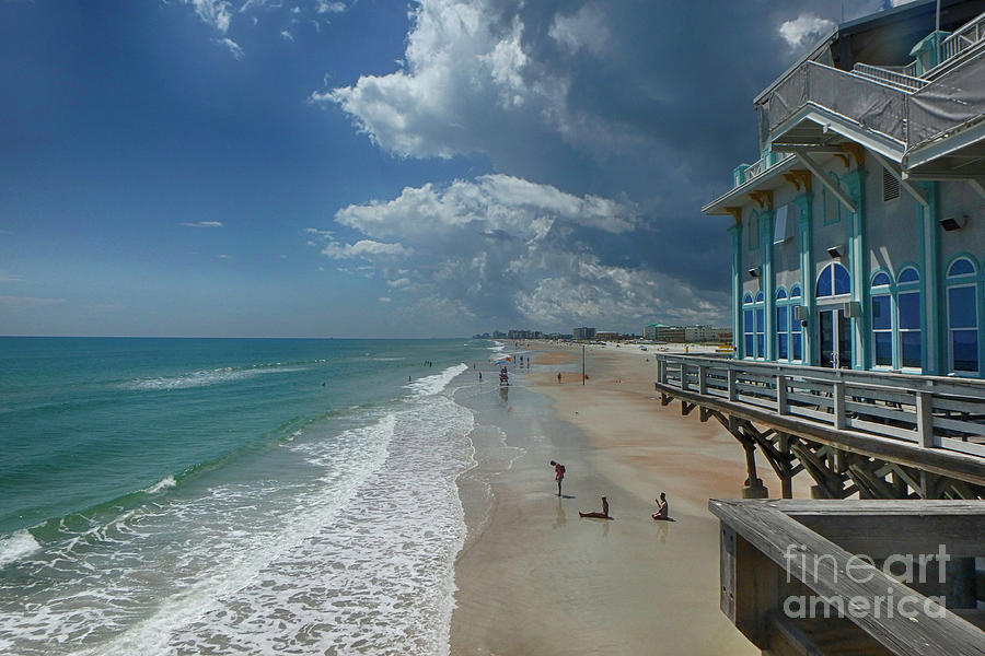 Beach Photograph - View From The Pier by Judy Hall-Folde
