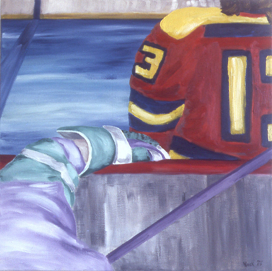 Ice Hockey Painting - View From The  Players Bench by Ken Yackel