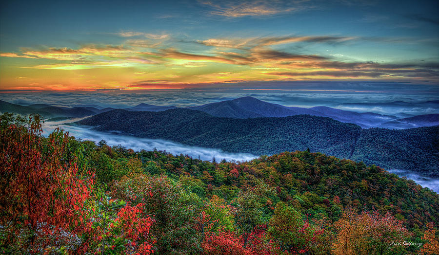 View From The Top Blue Ridge Mountain Parkway Sunrise Art