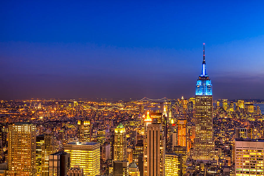 New York Photograph - View From The Top - Nyc Skyline by Mark E Tisdale