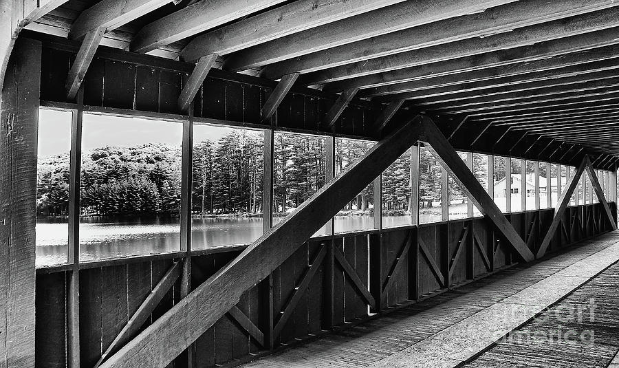 Mountains Photograph - View Inside Covered Bride Black And White by Jeanne OConnor
