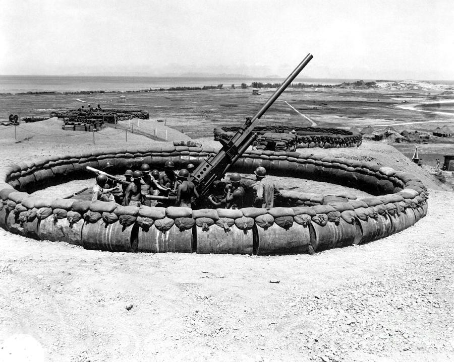 Horizontal Photograph - View Of A 90mm Aaa Gun Emplacement by Stocktrek Images