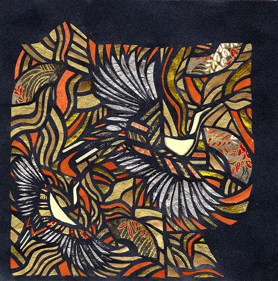 Asian Mixed Media - View Of A Kimono by Mia Yoshihara-Bradshaw