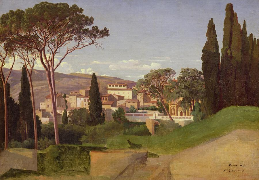 View Painting - View Of A Villa by Jean Achille Benouville