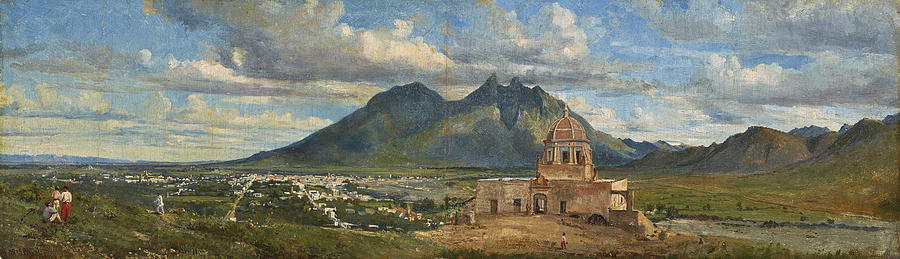 Conrad Wise Chapman Painting - View Of Bishops Palace Near Monterrey  by Conrad Wise Chapman