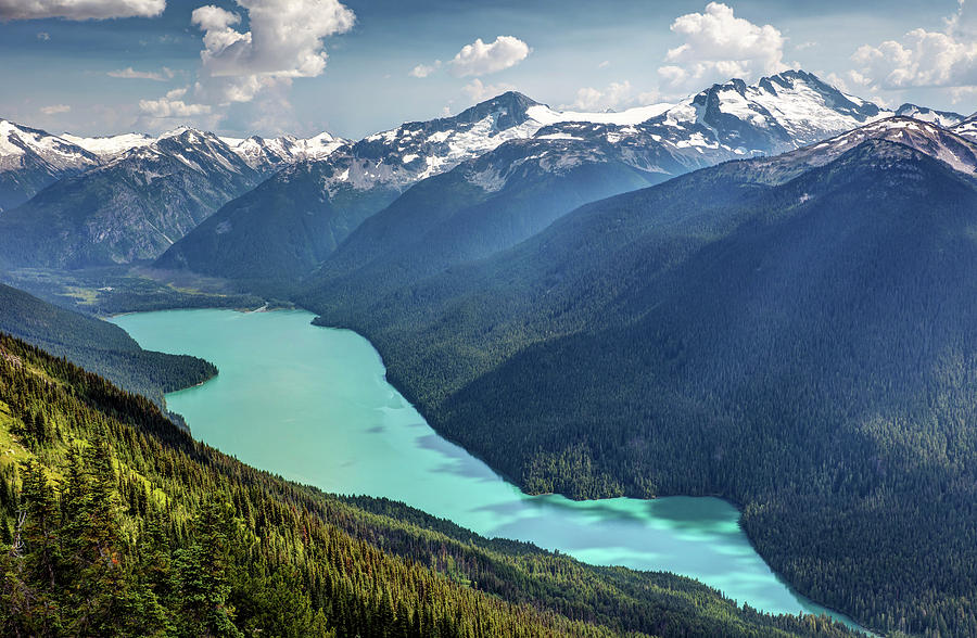 View of Cheakamus Lake from the High Note Trail by Pierre Leclerc Photography