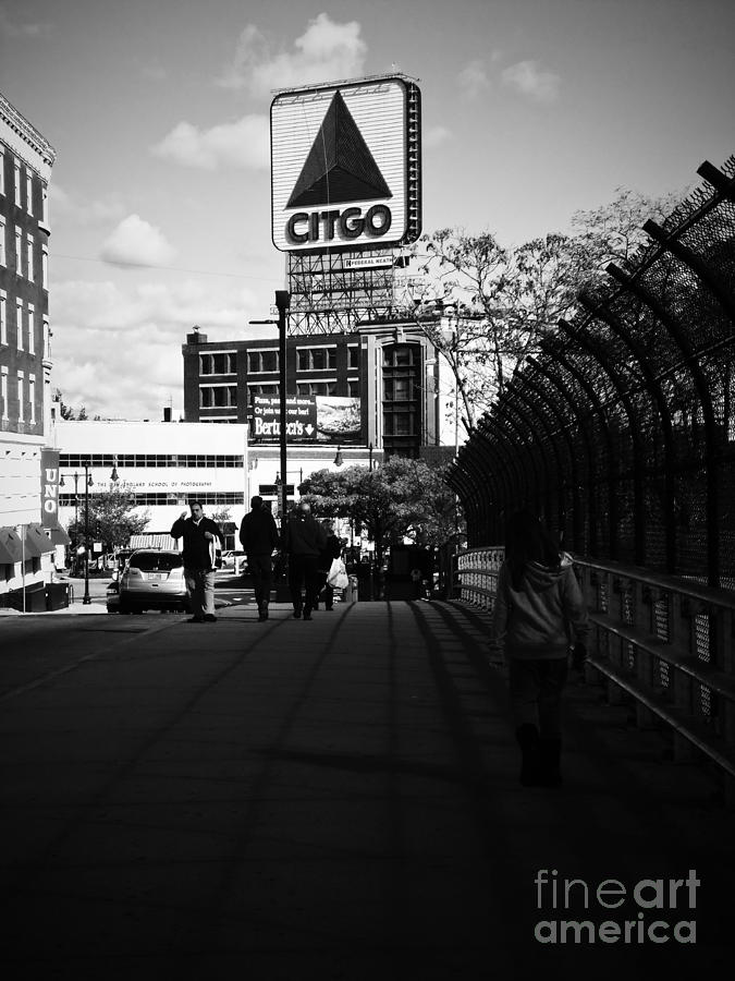 Citgo Sign Photograph - View Of Citgo Sign From David Ortiz Bridge, Boston, Massachusetts by Lita Kelley