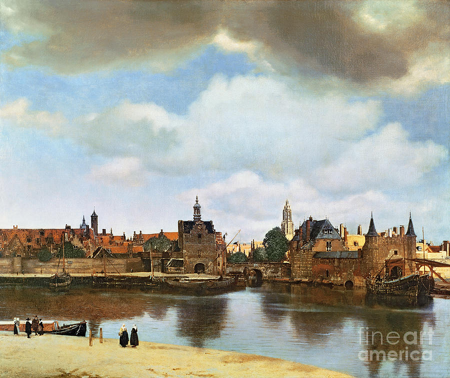 View Painting - View Of Delft by Jan Vermeer