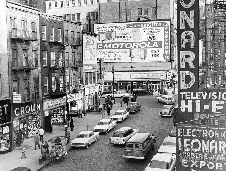 View Of Doomed Stores Of Radio Row In Manhattan New York. 1962. Photograph by Anthony Calvacca