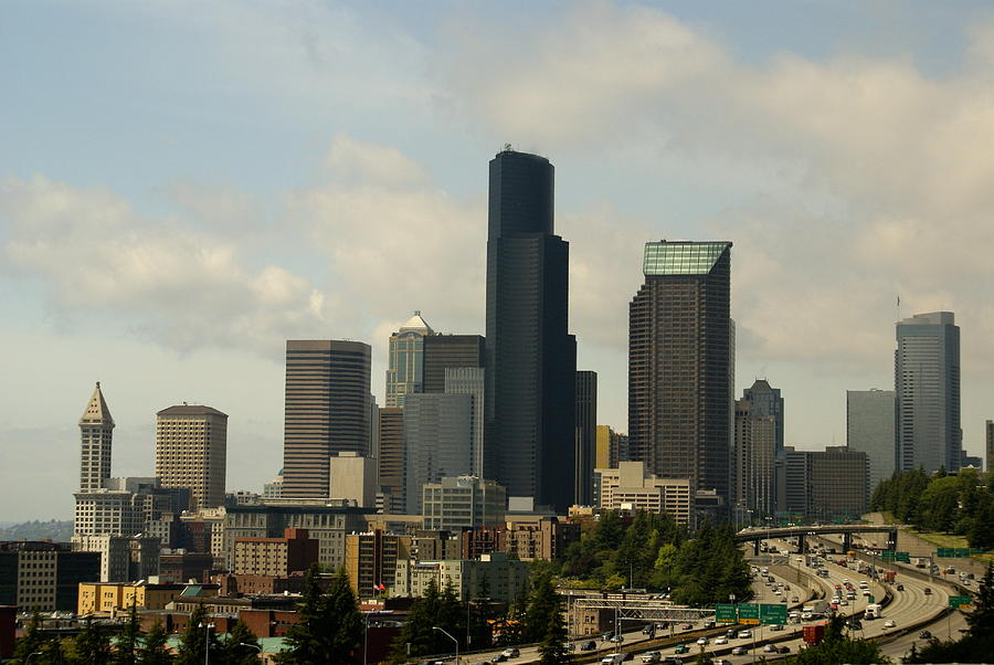 Urban Photograph - View Of Downtown by Sonja Anderson