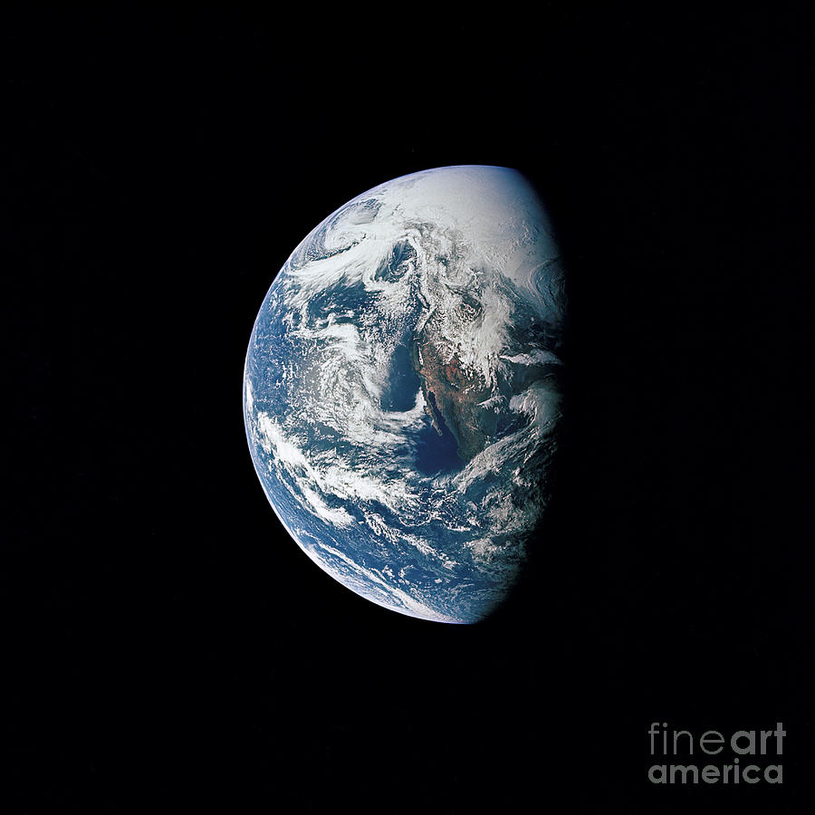 Mexico Photograph - View Of Earth Taken From The Apollo 13 by Stocktrek Images