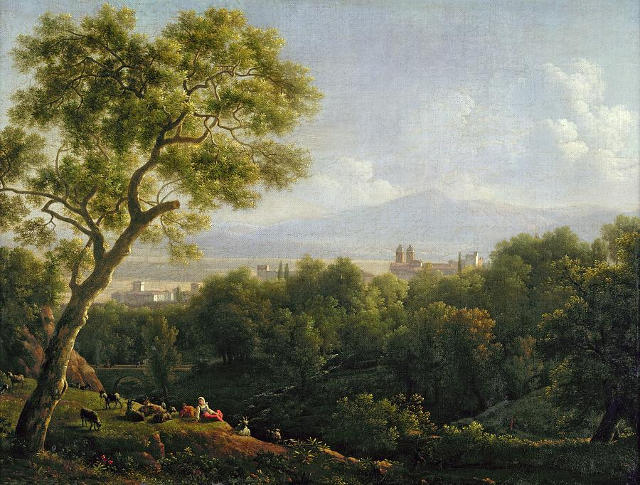 View Painting - View Of Frascati by Jean Bidauld