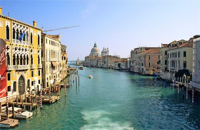 Venice Photograph - View Of Grand Canal In Venice From Accadamia Bridge by Michael Henderson