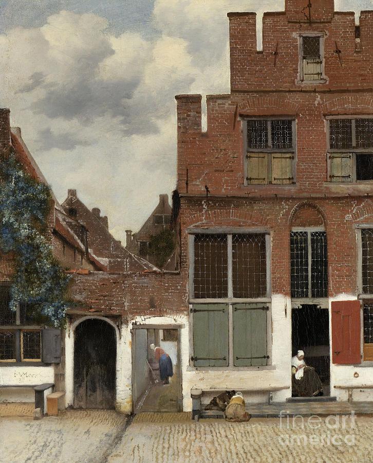 Vermeer Painting - View Of Houses In Delft, Known As The Little Street by Jan Vermeer