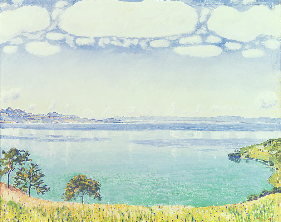 View Painting - View Of Lake Leman From Chexbres by Ferdinand Hodler