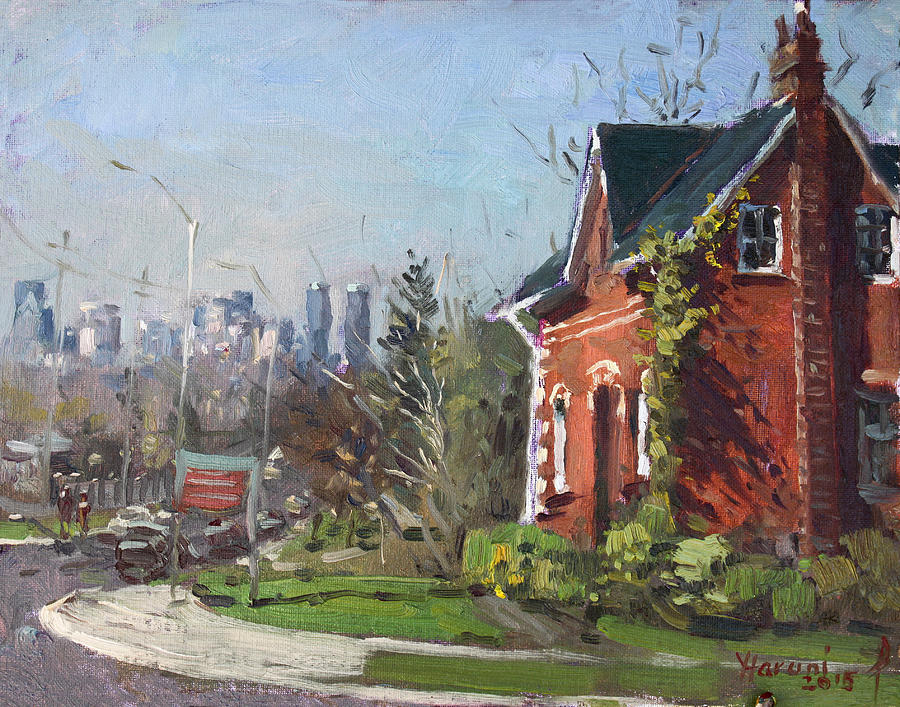 Mississauga Painting - View Of Mississauga City by Ylli Haruni